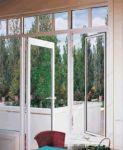 фото алюминевые маятниковые распашные двери