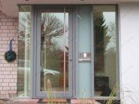 фото алюминевые распашные двери для офиса