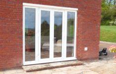 фото алюминевые распашные стеклянные двери