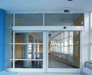фото автоматические раздвижные двери алюминевые однопальные