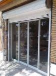 фото автоматические раздвижные двери алюминевые в магазин