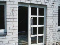 фото маятниковые одностворчатые двери алюминевые