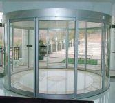 фото радиусные автоматические двухпальные двери