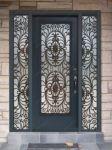фото кованные однопальные входные двери