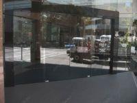 фото офисные автоматические раздвижные двери (стеклянные)