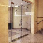фото маятниковые распашные двери стеклянные входные