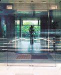 фото стеклянные маятниковые распашные двери для гостинницы