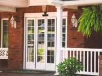 фото телескопические двери для часного дома