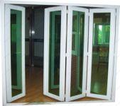 фото входные двери пвх гармошка со стеклом