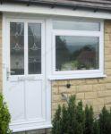 фото входные двери пвх с витражным стеклом