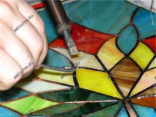 Изготовление витражных красок в домашних условиях