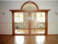 фото витражная раздвижная дверь