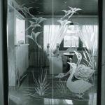Фото пескоструй стекла