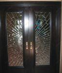 фото двери входные с витражами