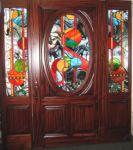 фото входная дверь витраж