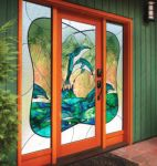 фото входные двери с витражом