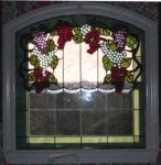 Фото витраж на окне