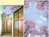 Витражный потолок фотопечать
