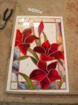 фото цветы из витража