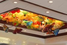 фото дизайнерский потолок из стекла