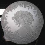 фото картинка пескоструйного зеркала