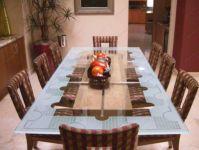 фото кухонный матовый стеклянный стол