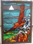 фото окна витражи орел