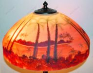 фото расписная лампа