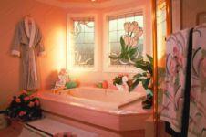 фото рисунок витража для ванной