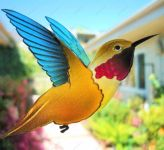 фото роспись по стеклу колибри