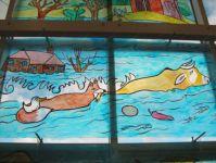 фото роспись по стеклу в детской комнате