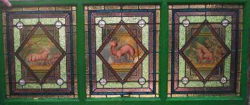 фото роспись по стеклу животные