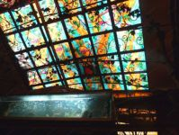 фото роспись витражными красками плафона