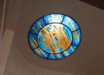 фото стеклянный потолок фьюзинг