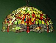 фото светильник люстра с витражным стеклом