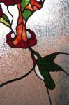 фото витраж цветы и птицы