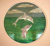 Витраж дельфины фото