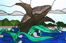 фото витраж кит