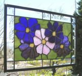 фото витраж крупные цветы