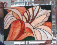 Витраж лилия фото
