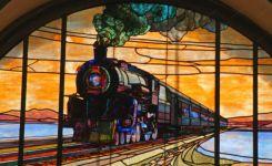 фото витраж поезд