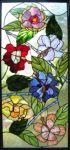 фото витраж с изображением цветов