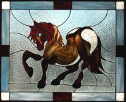 фото витраж с лошадью