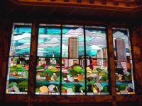 фото витраж с видом города