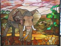 фото витраж слон
