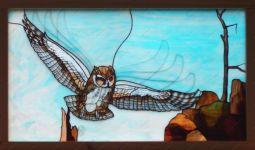 фото витраж сова