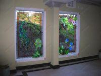 фото витраж Тиффани в окнах