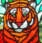 фото витраж тигр