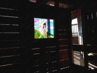 фото витраж в деревянном доме