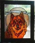 фото витраж волк